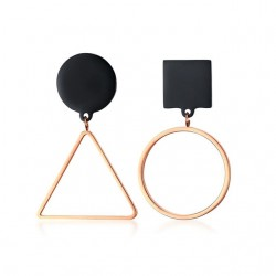 Asymmetrical geometric stud earrings