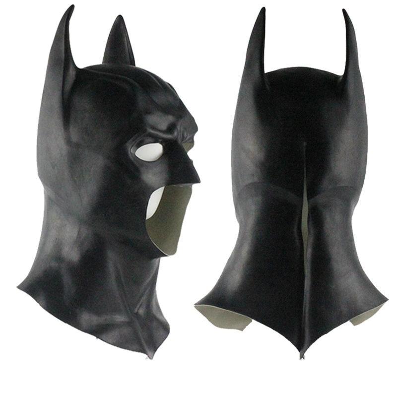 Halloween Full Face Latex Batman Mask