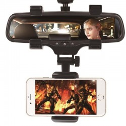 iPhone Samsung GPS Smartphone Auto Achteruitkijkspiegel 360 Graden Telefoonhouder