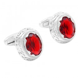 Red Zirconia Cufflinks