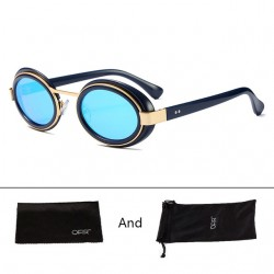Steampunk Gothic Vintage Oval Sunglasses Unisex