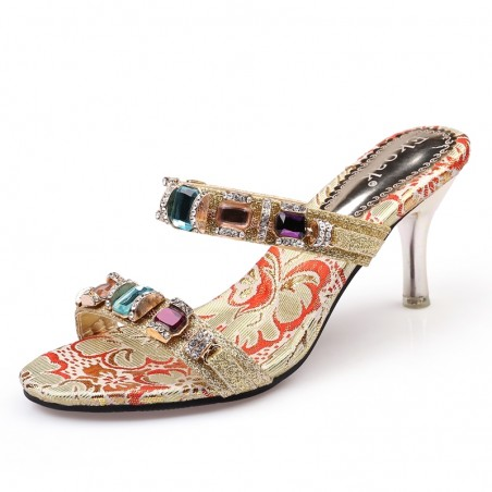 Women's High Heel Rhinestones Sandals