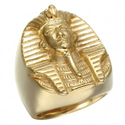 Gold Egyptian Pharaoh Ring