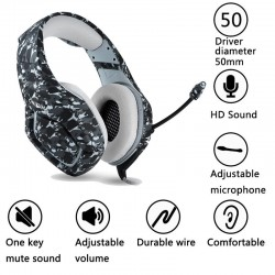 PS4 PC Computer Xbox One Camouflage Headset Met Microfoon