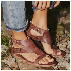 Leather Gladiator Women's Sandals