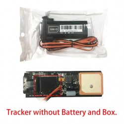 Mini waterproof GSM - GPS car tracker with built-in battery
