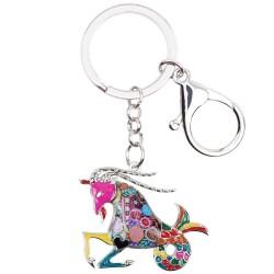 Capricorn Zodiac Sign Keychain Keyring