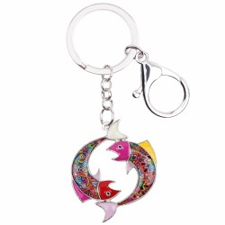 Pisces Zodiac Sign Keychain Keyring