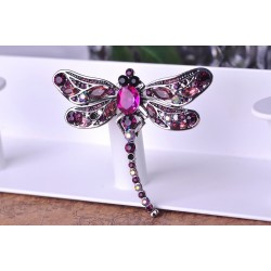 Crystal Dragonfly Brooch