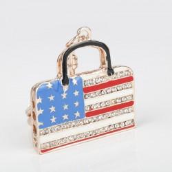 Rhinestone & crystal handbag - keychain