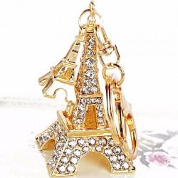 Crystal Eiffel Tower - keyring - keychain