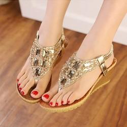 Crystal Platform Sandals
