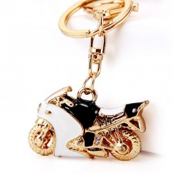 Motorcycle Autobike Enamel Crystal Keychains Purse Bag Buckle Pendant For Car Keyrings Key Chains Ho