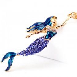 Mermaid Crystal Keychain Keyring