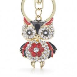 Crystal Owl Keychain Keyring