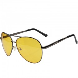 Clear night vision glasses with yellow lens