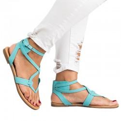 Platte gladiator dames sandalen