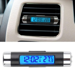 2 in1 Car LCD Clip-on Digital Temperature Thermometer