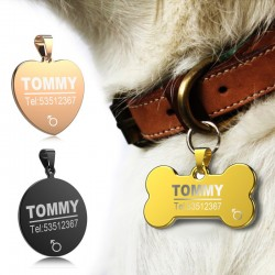 Dog - Cat ID Tag Anti-lost Stainless Steel Engraved
