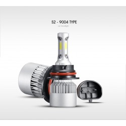 Oslamp COB 12V - 24V LED Headlights Hi-Lo Beam 72W 8000LM 6500K