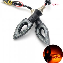 Motorcycle LED turn signal indicators waterproof 2 pcs