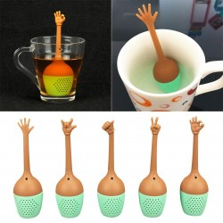 Hand gestures shaped tea infuser - silicone strainer