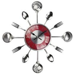 Metal cutlery wall clock 18 inch