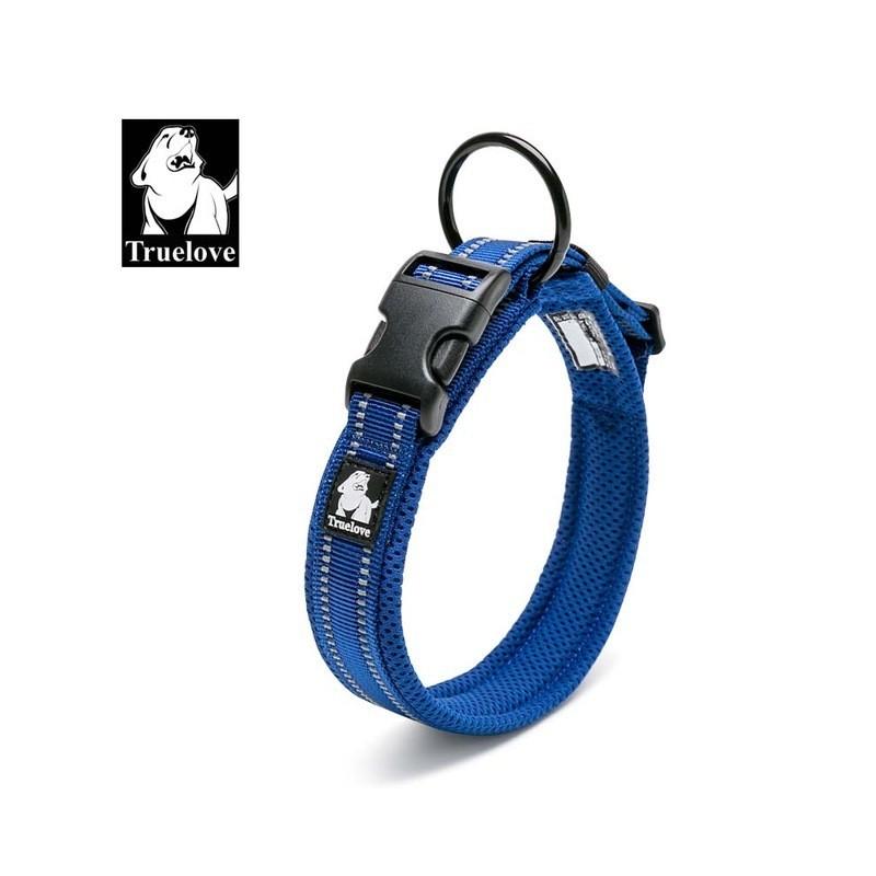 Dog pet adjustable reflective nylon collar