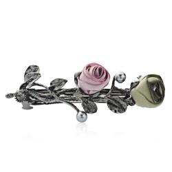 Rosen kristall haarspange