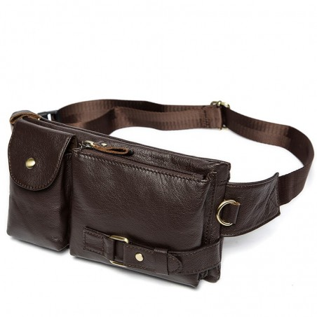 Genuine leather waist belt bag