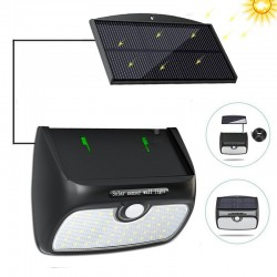 48 LED detachable solar panel lamp light motion sensor waterproof