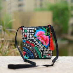 Ethnic mini shoulder embroidered crossbody bag