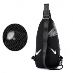 Waterproof nylon crossbody shoulder bag