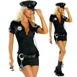 Policewoman halloween costume uniform