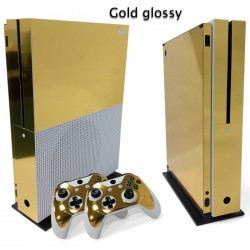 Xbox One S Console & Controller vinyl decal skin sticker gold