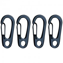 Camping outdoor stainless steel carabiner buckle hook 10 pcs