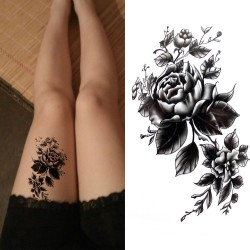 Flowers body waterproof temporary tattoo sticker