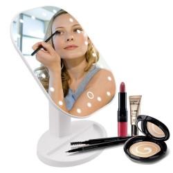Vouwbare, instelbare LED-make-up touch-spiegel