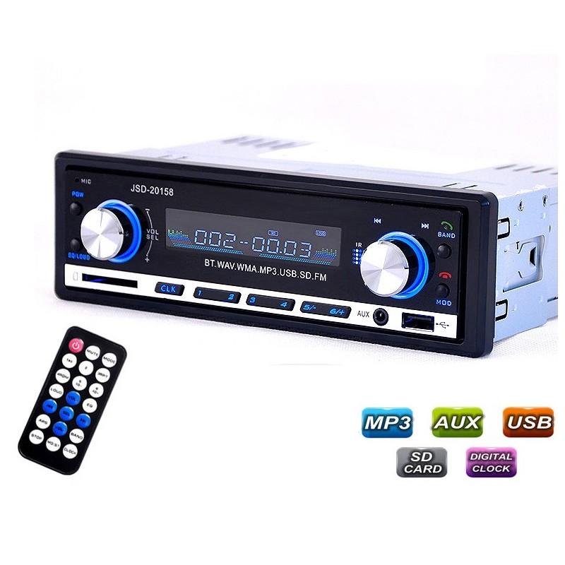Bluetooth Audio Autoradio FM - MP3 Player USB 4 * 60W