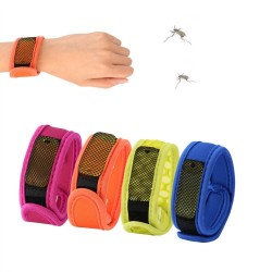 Mosquito repellent bracelet wrist band with refill pellets