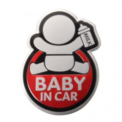 BABY IN CAR reflective 3D car sticker waterproof