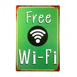 Vintage metalen posters Free Wifi
