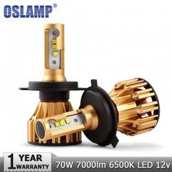 Oslamp LED Koplampen H4 - H7 - H11- 9005 - 9006 70W 7000LM 6500K