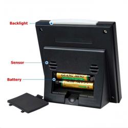 LCD digital alarm clock with backlight