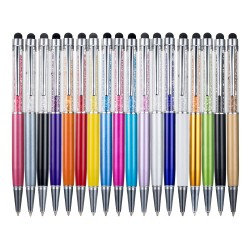 Metallic crystal pen diamond ball pen