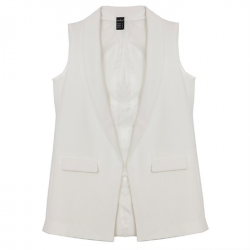 Elegant sleeveless coat vest