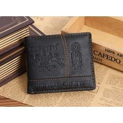 Lederen heren portemonnee - rits en creditcard vakjes