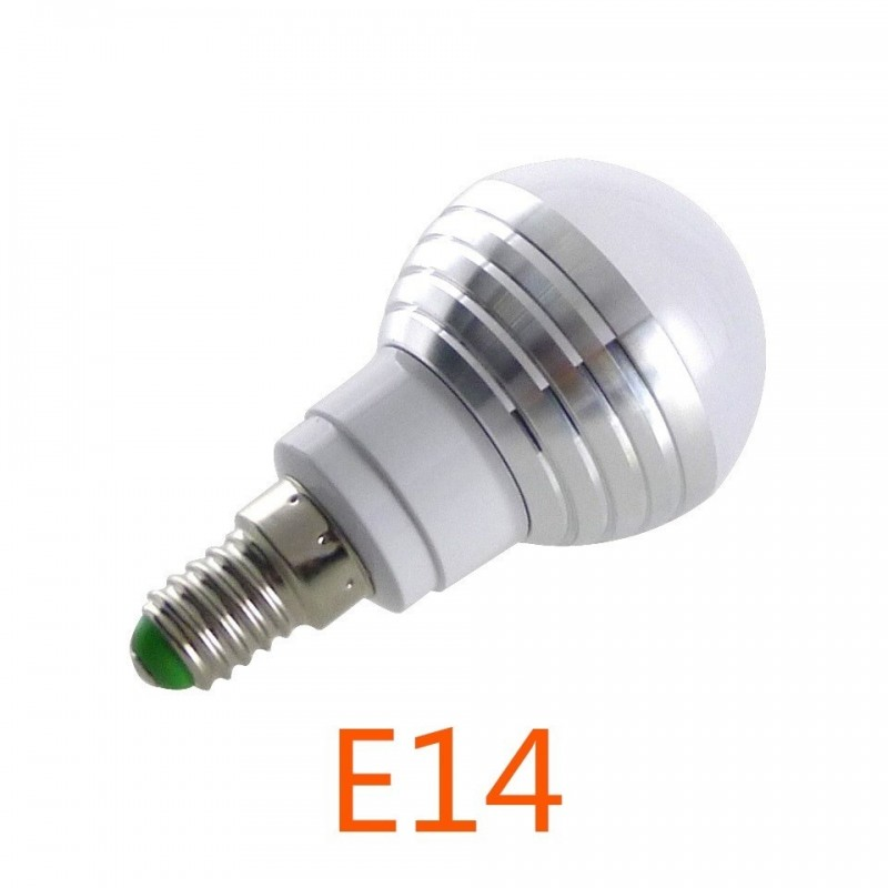 E14 E27 RGB LED Lamp 3 W 16 Kleur Verwisselbare Lamp LED Spotlight + ...
