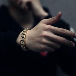 Gold & silver bracelet unisex