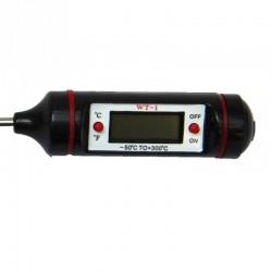 Digitale voedselthermometer - roestvrij staal - voor bakken - koken - vlees